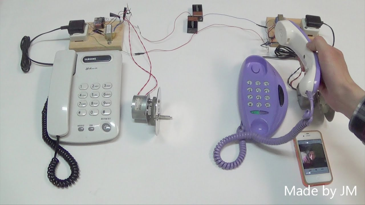 Telephone Intercom Circuit With Ringer Signal Generator