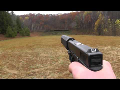 Glock 23 Suppressed - YHM 40 Cobra M2 vs Silencerco Osprey 40 - Lone Wolf Threaded Barrel