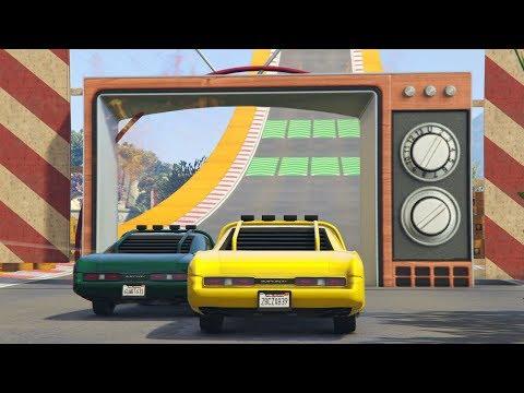 CUIDADO CON LA TELE GIGANTE!! - CARRERA GTA V ONLINE - GTA 5 ONLINE