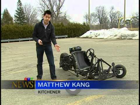 Homemade 3 Wheel Go-Cart (News Story)
