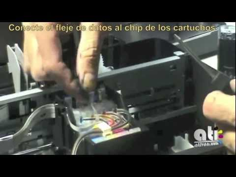 TX 120 Instalación Profesional Sistema de Tinta continuo ATIVEN