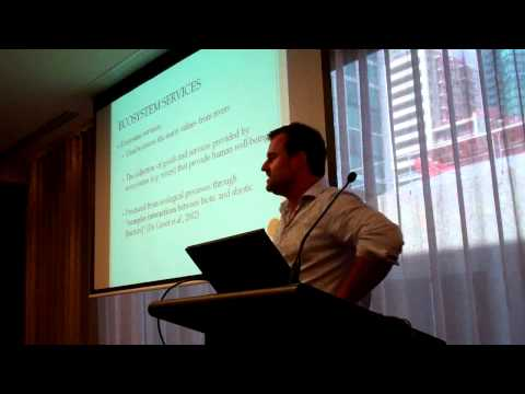 Edward Hearnshaw presenting at AARES 2011 - Part 1