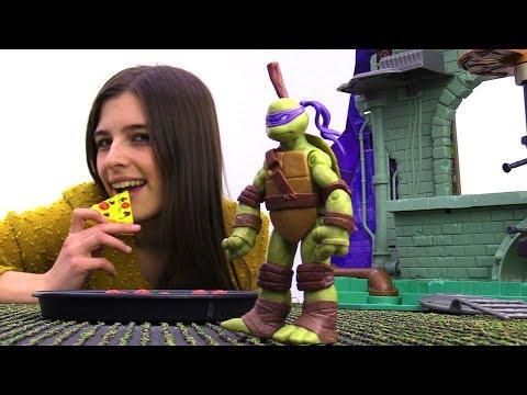 Видео для детей: Черепашки Ниндзя в ловушке у Шредера. Toyclub