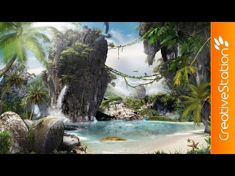 Mysterious Island - Speed art (#Photoshop) | CreativeStation