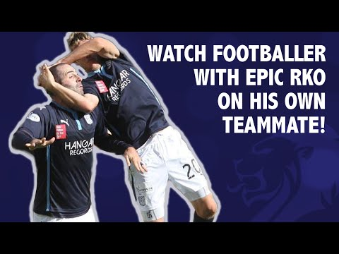 Watch Footballer with epic RKO on his own teammate!