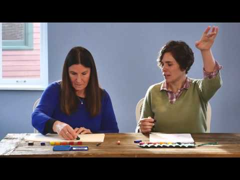 Drawing With Block Crayons — Oak Meadow Teachers Demonstrate Block Crayon Teaching Techniques