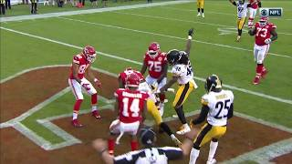Pittsburgh's Clutch Red Zone Stop w/ Wild 4th Down Play!   Steelers vs. Chiefs   NFL Wk 6 Highlights
