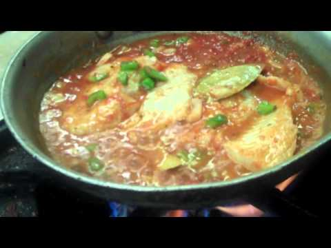 CHEF MANNY'S KITCHEN QUICKIES 4.(spanish creole fish with rice and salad)