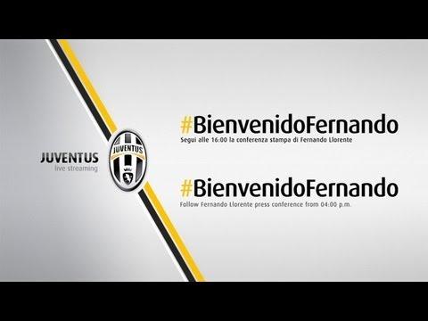 Conferenza stampa di presentazione di Fernando Llorente alla Juventus