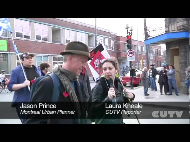 Interview with urban planner Jason Prince  Manif Solidarit Sud-Ouest April 13th 2012