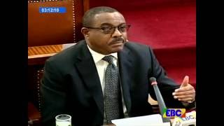 Prime Minister Hailemariam Desalegne Answers Questions in parliament