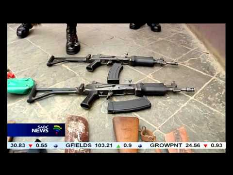 Police have confiscated a large quantity of weapons, ammunition, dagga and liquor