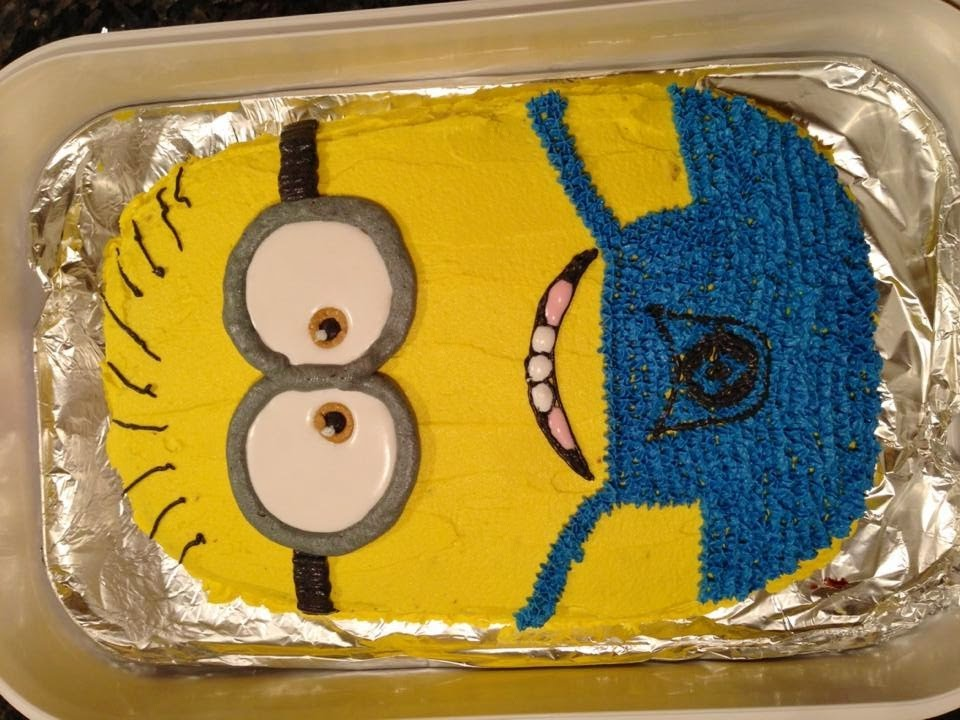 Easy Flat Minion Cake