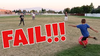 Family Kickball Game Fail