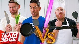 Amateurs vs One-Handed Chef! | Can They Beat a Pro??