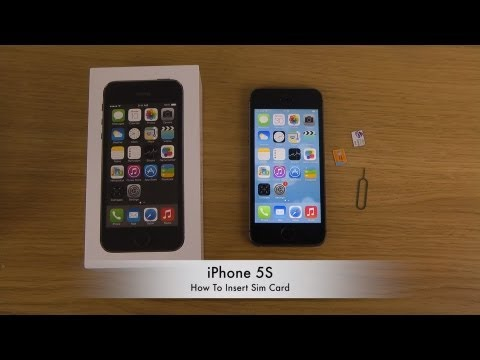 How To Insert Sim Card In iPhone 5S