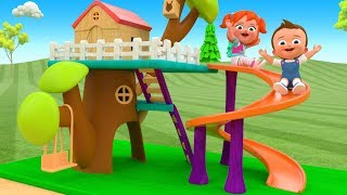 Assembling Wooden House Slider Toy Set 3D Little Baby & Girl Fun Play Kids Learning Activities