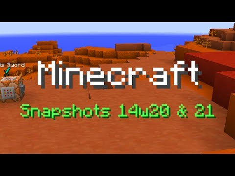 Minecraft: Title Text. Magic Carpets. and More! (Snapshots 14w20 & 21)