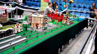 Lego train and city