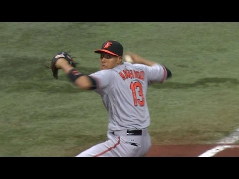 BAL@TB: Machado's diving stop robs Forsythe