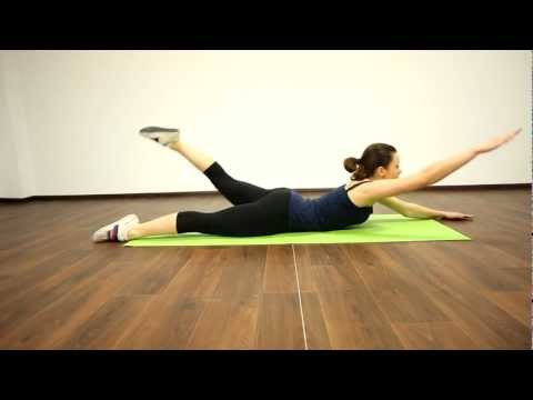 27. Фитнес конструктор 0-1-2-1 разнаименное поднятие лежа на животе