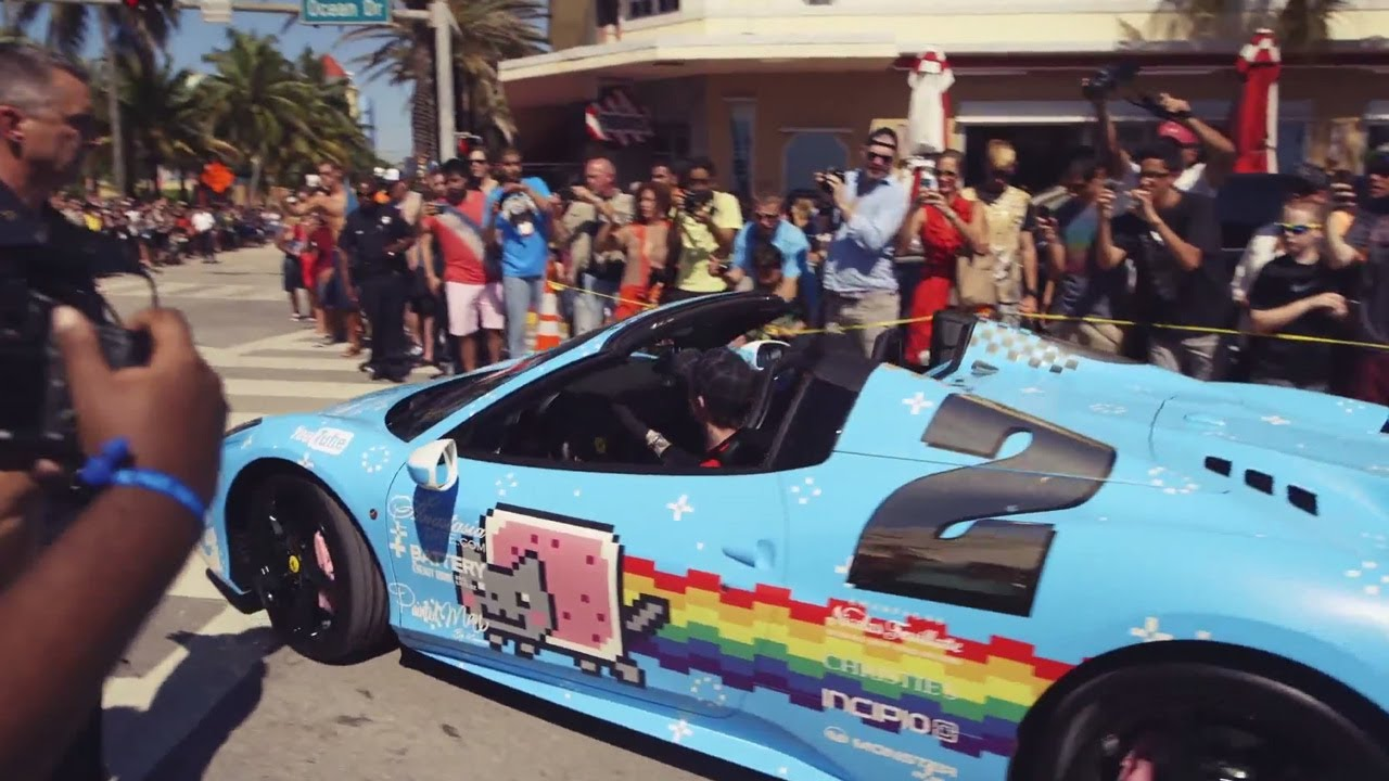Gumball 3000 Start All The Cars Of The 2014 Miami 2