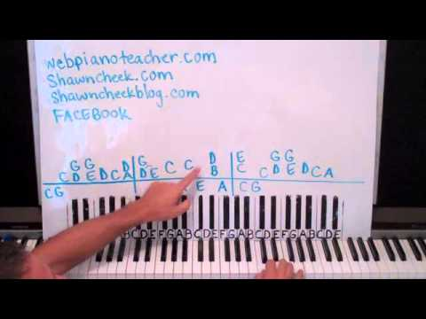 How To Play Same Old Lang Syne On Piano Shawn Cheek Lesson Tutorial