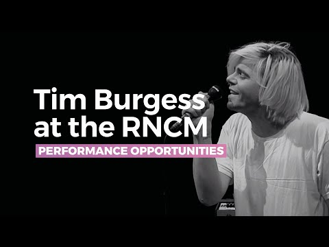 Then - Tim Burgess @ RNCM - with Joe Duddell & Cassia String Quartet