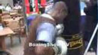 Joachime Alcine Training For Daniel Santos On Boxingshow Tv