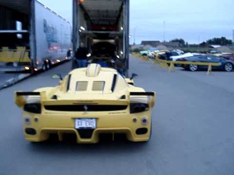 I worked security for the Race the base even in Cold lake Alberta. I took this video as they were packing up the cars. It's a modified Ferrari Enzo. The car ...
