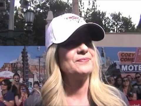 Bonnie Hunt, voice of Sally at the Cars Land Grand Opening at DCA