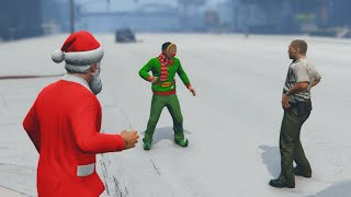 SNOW BALL FIGHTING! (GTA 5 Funny Moments)