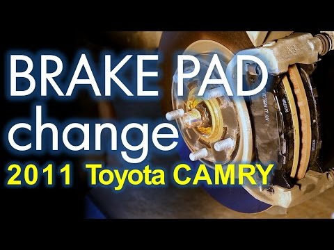 Toyota Camry Brake Job. Front and Rear Brake Pad Replacement