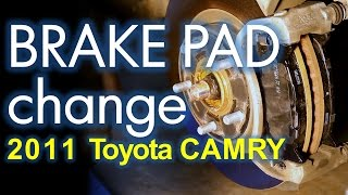 Toyota Camry Brake Job, Front and Rear Brake Pad Replacement