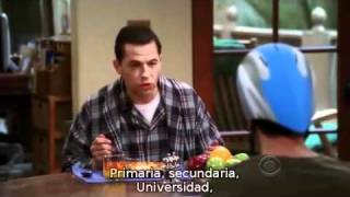 Two and a half men: Charlie y Esmeralda. (Sub en español) (2/2)