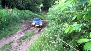 BMW 525ix stuck in the mud