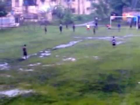 Village Football Match On Raining Day video