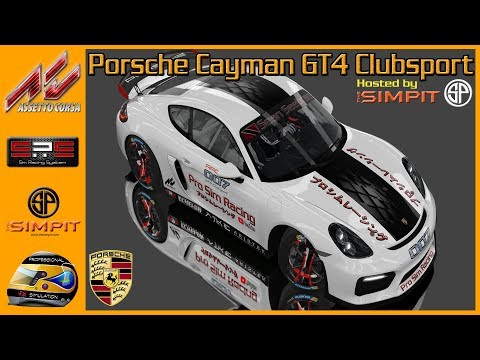 ✅Simpit Porsche Cayman GT4 Clubsport at New Jersey Motorsports Park (Week 6-Race 1) - Assetto Corsa