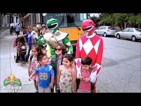 Power Rangers Visit Luis On His Birthday