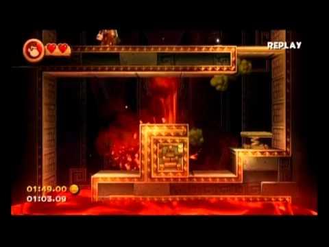 Donkey Kong Country Returns - 6-K Perilous Passage - 1:45.73 (Shiny Gold Medal)