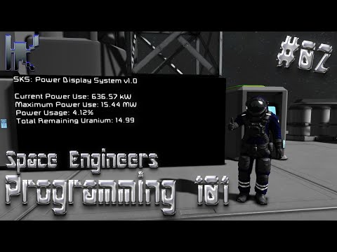 Space Engineers Programming 101 - Power Display Script