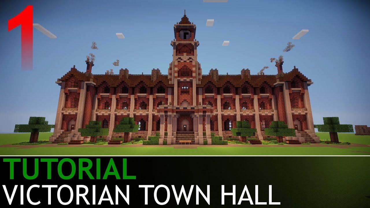 Minecraft Tutorials Victorian Town Hall Part 1 4 Youtube
