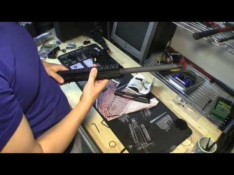 UTG Pro Super Slim Free Float Handguard. 13-Inch Installation (Pt 2)