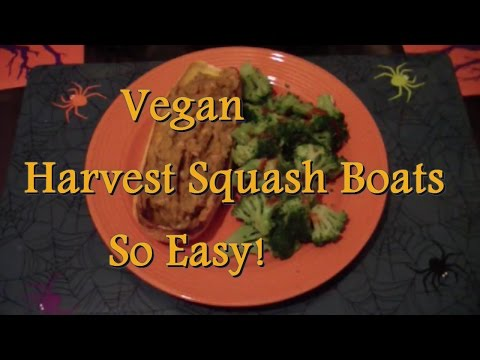 Harvest Squash Boats + Pumpkin Bean Dip