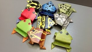 Daily Origami: New Free Printables - Real Frogs Of The World