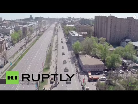 Russia: Drone captures final V-Day parade rehearsal in Moscow