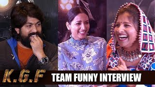 KGF Movie Team Funny Interview With Mangli | Yash | Srinidhi Shetty |Filmylooks