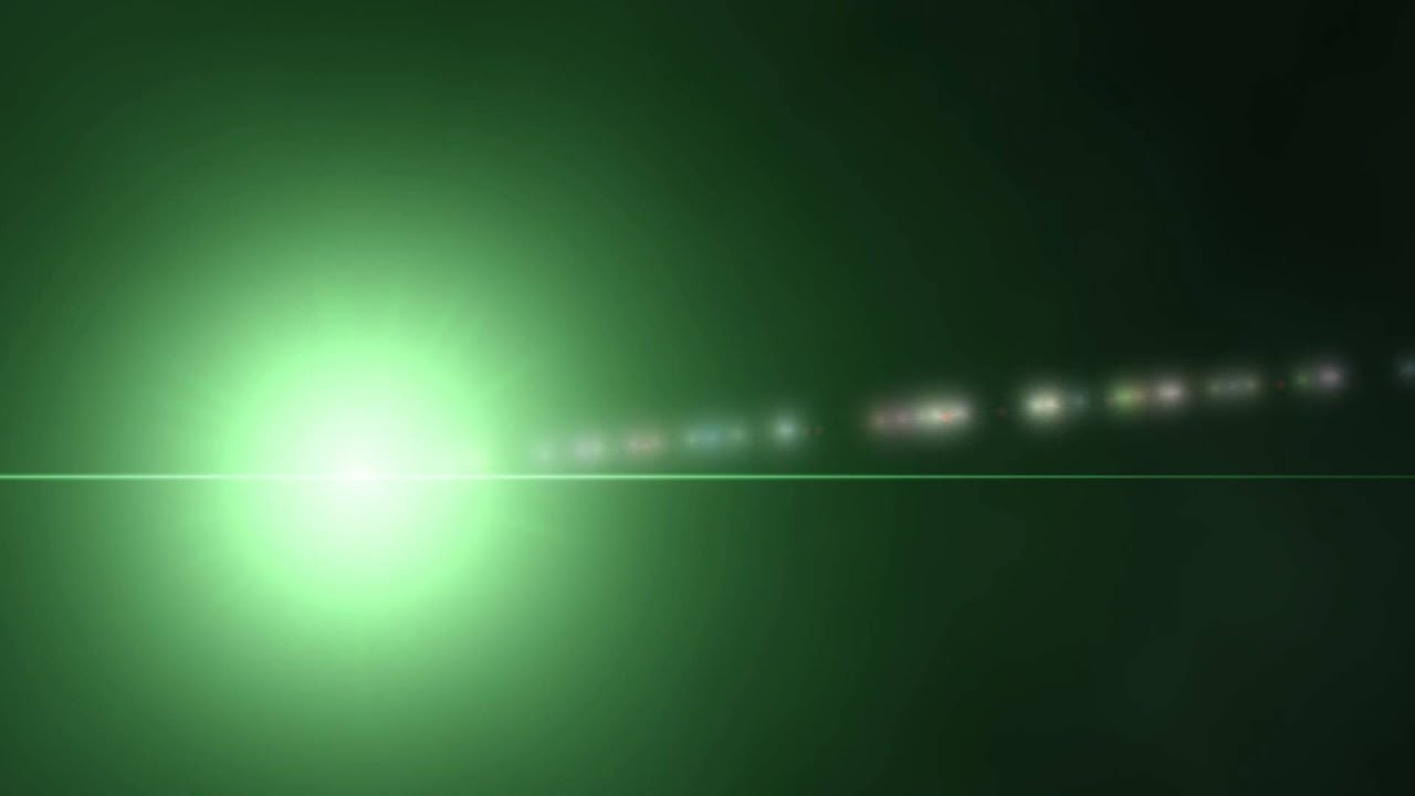 Green Lens Flare Black Background 6 ANIMATION FREE FOOTAGE ...