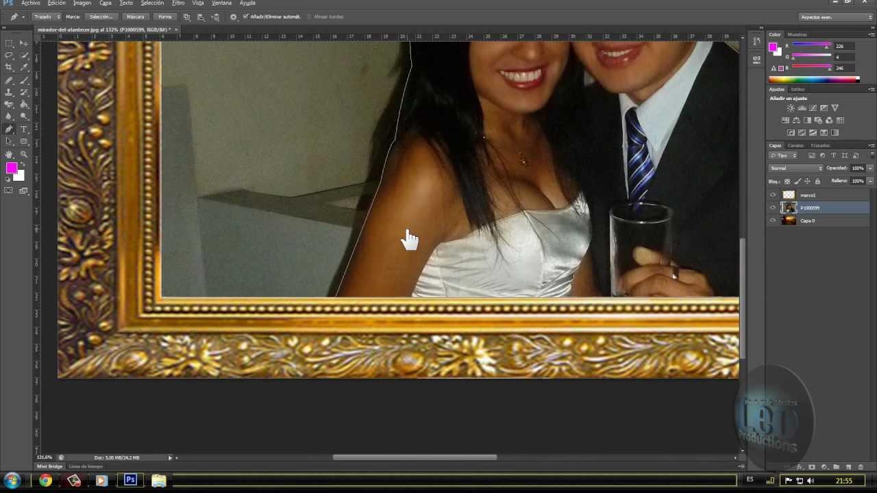 Marco de fotos en photoshop cs6 youtube - Marcos clasicos para fotos ...