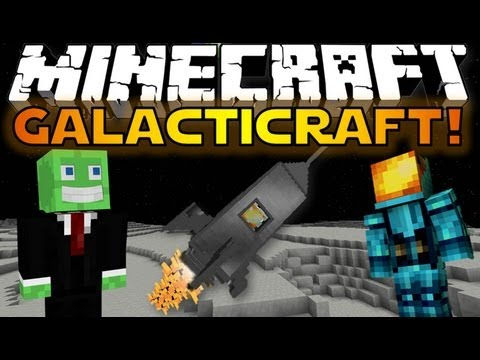 Minecraft Mods: GALACTICRAFT! - Build A Rocket & Go To The Moon!